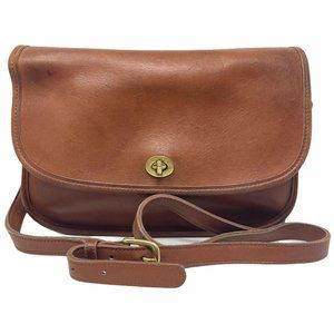 Coach City Vintage Leather Crossbody Flap Bag 9790